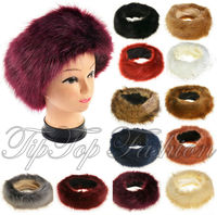 Ladies Faux Fur Fashion Headband Fleece Lined Womens Ski Ear Warmers Ear Muffs
