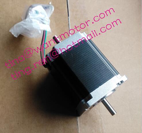 Wantai 1pc Nema 23 Stepper Motor 57BYGH627B21,DUAL SHAFT,270oz-in 1.9N.m76mm 3.0A 4leads CE ISO ROHS Medical Laser