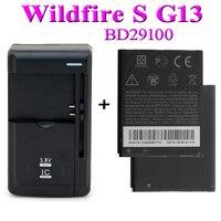 2x1230 мА/ч, BD29100 Батарея для htc Wildfire S A510E G13 HD7, HD3 T9292 T9295 мА/ч. Аккумулятор Bateria Batterij ACCU + Универсальный Зарядное устройство