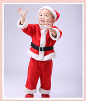 2017 Boys Girls Winter Autumn Tops Pants Girls Clothing Set Santa Costumes Claus Boys Boutique Christmas