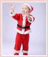 2017 Boys Girls Winter Autumn Tops Pants Girls Clothing Set Santa Costumes Claus Boys Boutique Christmas