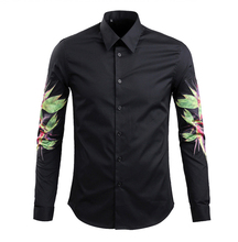 2016 the new men's cultivate one's morality men's long sleeve shirt cotton shirt