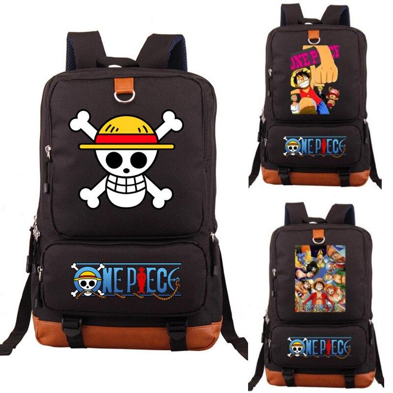 Anime One Piece Luffy Glow in Dark Luminous Backpack Cosplay Rucksack School Bag