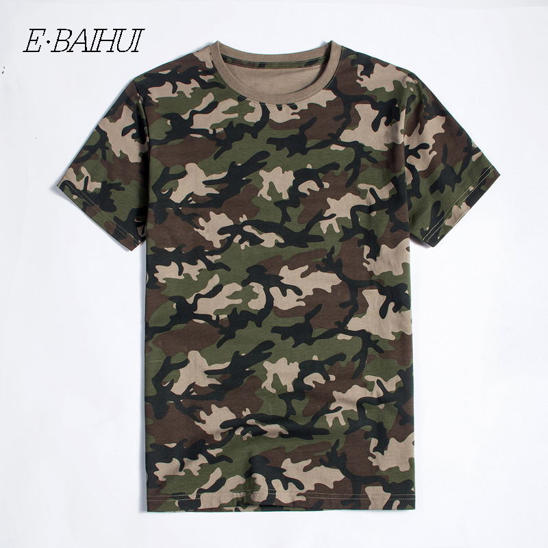 E-BAIHUI new fashion Men Cotton Clothing Camo T-shirtS Camisetas t shirt brand tops Tees Skateboard Moleton mens t-shirts T040