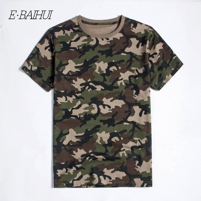 E-BAIHUI novos Homens da moda Roupas de Algodão Camo Camisetas Camisetas t shirt marca tops Tees Skate Moleton mens camisetas T040