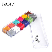 Imagic 12 Color Pigment With Brush Halloween Professional Masquerade Body Painting Paint Face Paint Body Paint