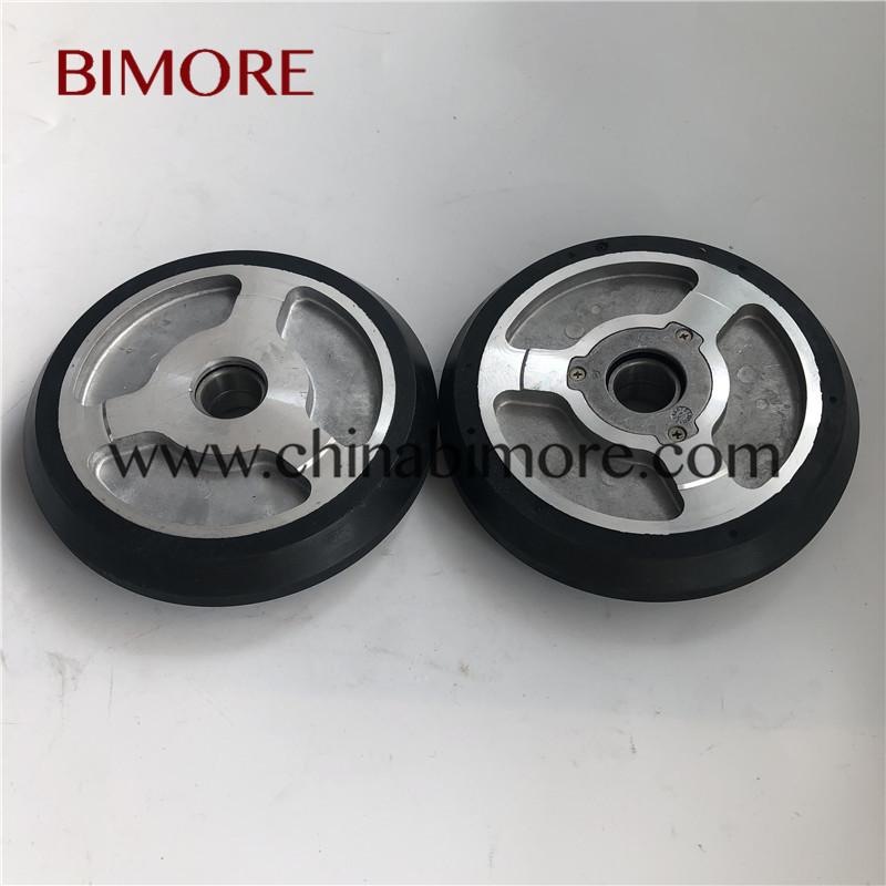 BIMORE 125x27x6mm Elevator guide shoe roller OD:125 Thickness:27 Lift wheelBIMORE 125x27x6mm Elevator guide shoe roller OD:125 Thickness:27 Lift wheel