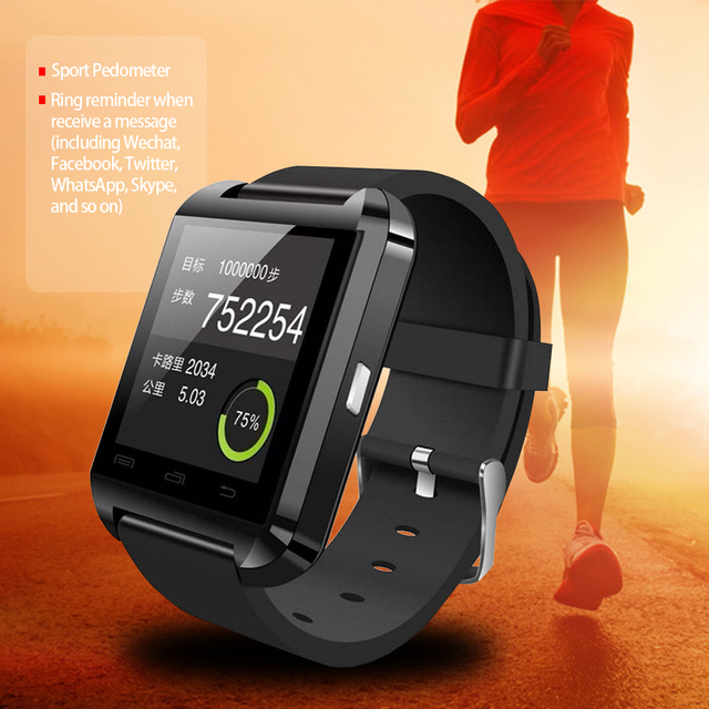 U8 Bluetooth Smart Watch for Android Phone Smartphones
