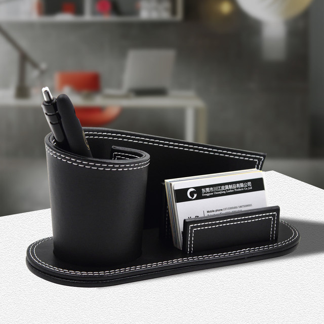 Online shop creative pu leather pen box business card holder multi creative pu leather pen box business card holder multi functional pencil organizer pen rack holder finishing box fathers gift reheart Gallery