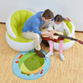 Children's inflatable sofa,cute flocking , back home sofa, 58cm x 53cm in size KIds casual seating, game air chair