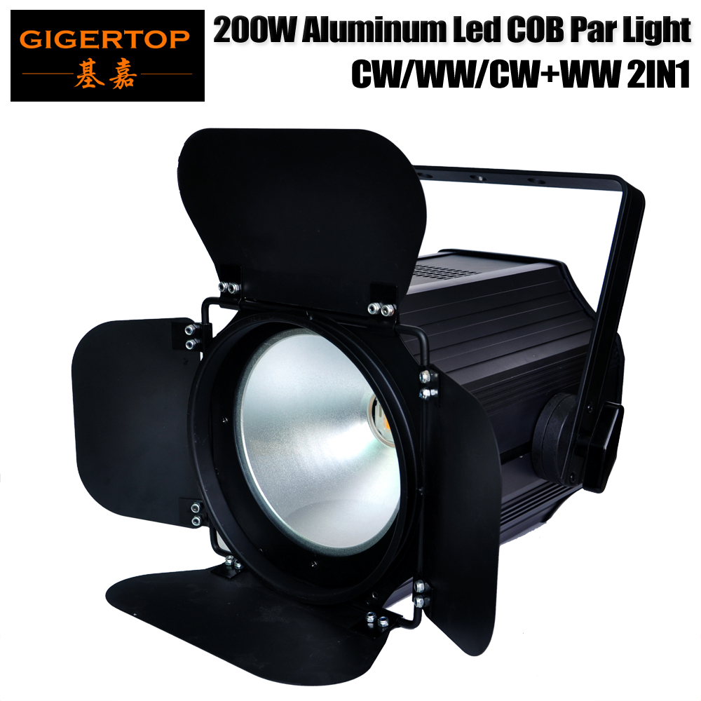 TIPTOP Stage Light TP-P67 200B White COB Led Par Light Tyanshine Original Barndoor Rotate 35 Degree Reflect Cup Power IN/OUT Con 200b