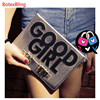 Fashion Girl Computer Phone Case For Apple Ipad 5 6 Air2 Air 1 Leather Cover For