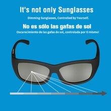 Elektronische Einstellbare Dimmung Sonnenbrille LCD Original Design Flüssigkeit Kristall Polarisierte Linsen Fabrik Direkte Versorgung Drop Verschiffen