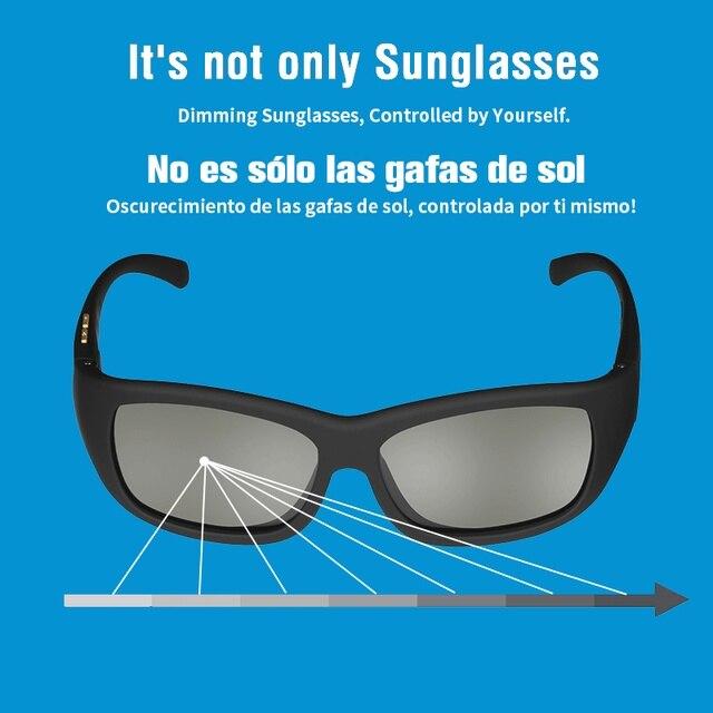 Eletrônico ajustável escurecimento óculos de sol lcd design original lentes polarizadas de cristal líquido fornecimento direto da fábrica transporte da gota