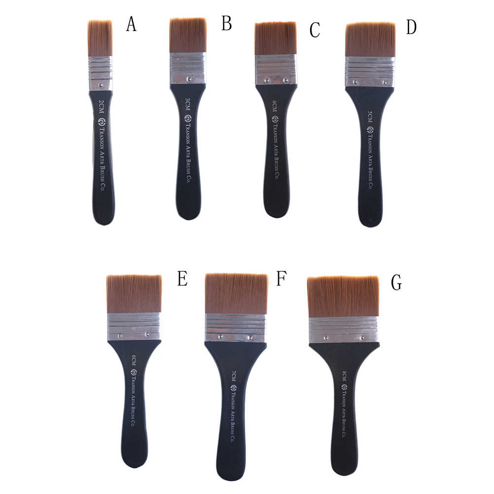 Gouache Acrylic Painting Brush Oil Brush Painting Wall Art Supplies Long Flat Head Cleaning Brush Paint Paint Brush