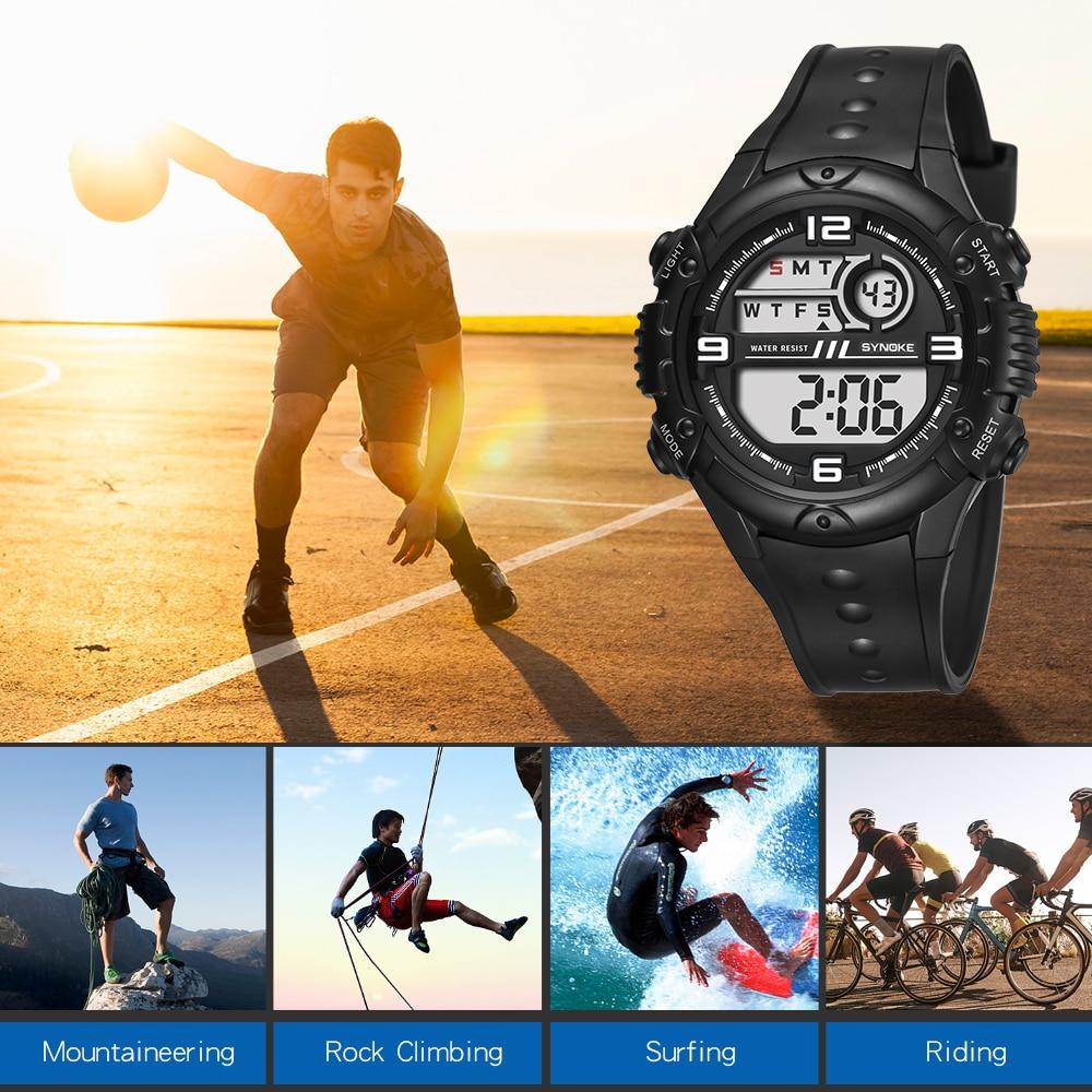 cf5ad940861 SYNOKE Homens Relógios Relógio Do Esporte LED Digital 50 M Relógio G Choque  Esportes Casuais Masculino