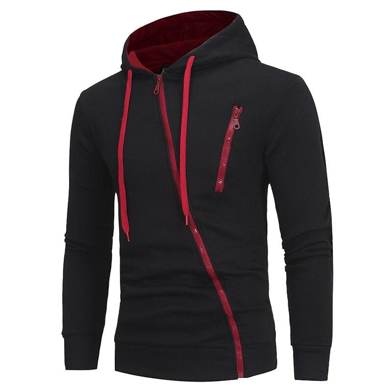 Drop Verschiffen 2018 Neue Mode Lange Hülse Hoodie Männer Merkmale Zipper Sweatshirt Herren Moletom Masculino Mit Kapuze Hoodies M-XXXL