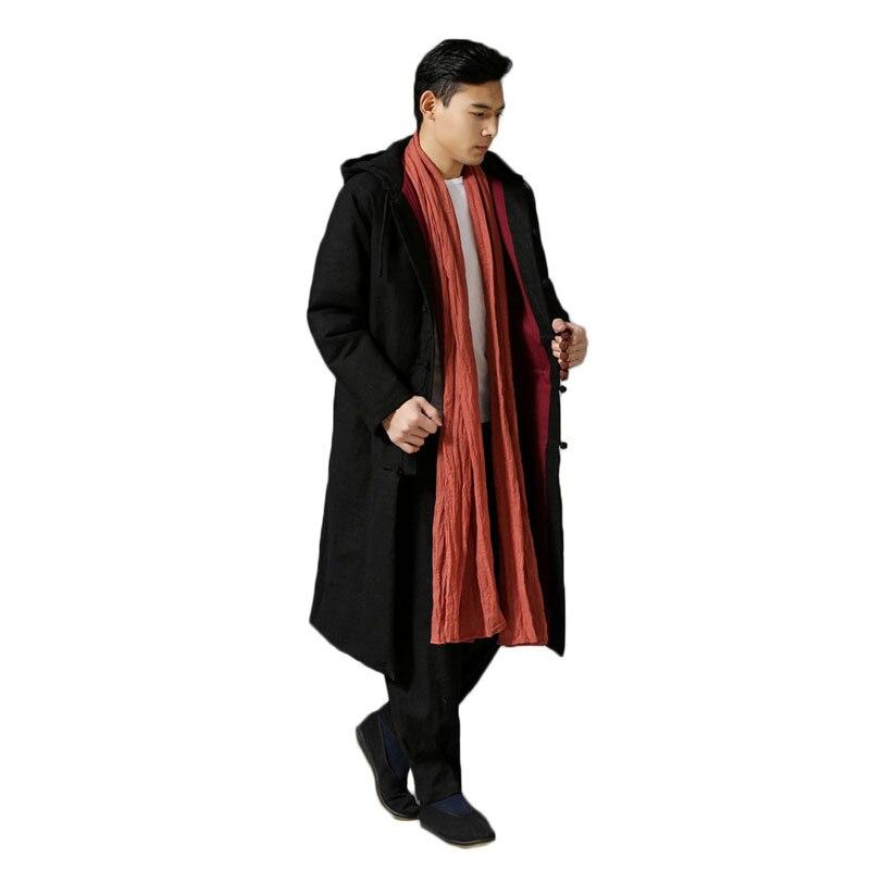 Крутой этнический тренд, модная ветровка, плащ, зимняя куртка, длинное пальто Тренч, мужское пальто, большой размер, 6 цветов - 4