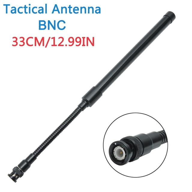 ABBREE AR 148 A Collo di Cigno BNC Tattico Antenna VHF UHF 144/430Mhz Pieghevole per Kenwood TK308 TH28A Icom IC V80 Walkie talkie