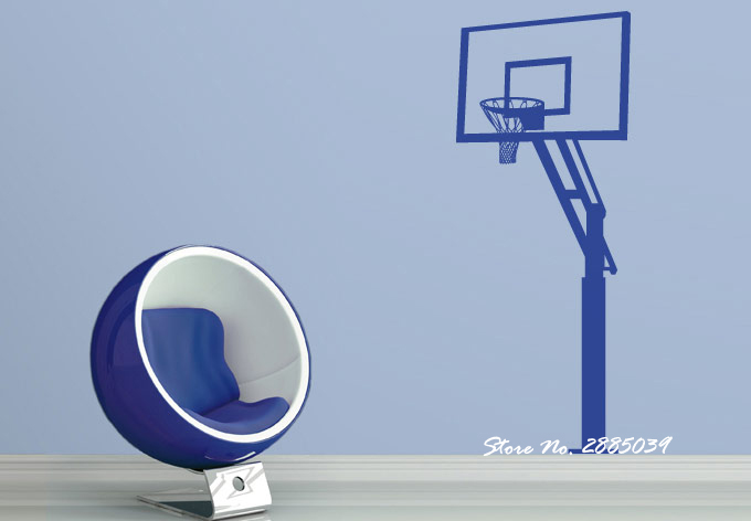 New Arrivals Basketball Hoop Vinyl Wall Sticker Boy Rooms Sofa Background Decor Living Room Home Decor Art Sports Stickers LA265 ...