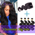 Annabelle Hair Peruvian Body Wave With Closure Peruvian Virgin Hair With Closure Ali Moda Hair 4 Bundles With Closure Body Wave