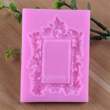 3D Flower vine Silicone Fondant Molds Frame Jewelry Cake Decorating Tools Pearl Chocolate Gumpaste Mold H668