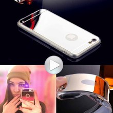 2016 New For Iphone 6 Accessories Discounted TPU Soft Gold Mirror Case for iphone 6 6S