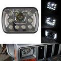 Пара 5 ''x 7'' Дюймовый Высокого Ближнего света Светодиодные Фары 55 Вт Для Jeep YJ Wrangler Cherokee XJ Грузовики 4X4 Offroad С Angel Eyes DRL