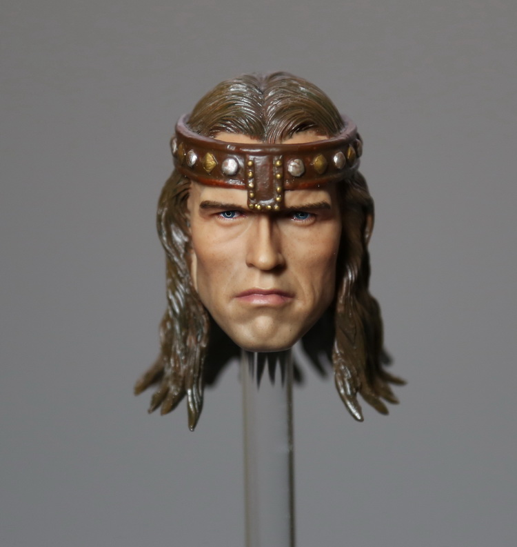 1/6 scale doll Accessory Conan the Barbar headsculpt Schwarzenegger head shape for 12 Action figure,Not included body,clothes 5pc conan action figure detective conan doll boxes high quality toy anime action figure garage kits gift of mini conan model
