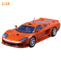 Saleen S7 sports car model 1:18 advanced alloy collection toy vehicle,diecast metal model,2open doors,free shipping