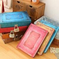 Europejski styl Retro Biurowych Okresowe Twarda Notebooka Magia Sketchbooks Planner journal Diary z Zamkiem Szyfrowym