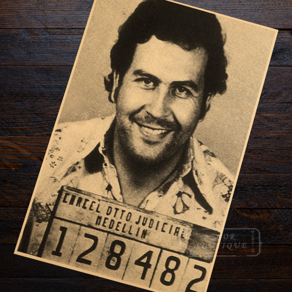 Narcos Colombia Pablo Escobar Crime Poster Classic Retro