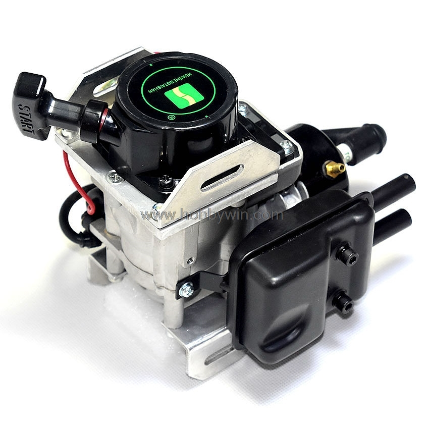 26CC RC Boat Gas Engine Single Cylinder Water-Cooled 2-Stroke for Racing speedboat 2 sets water cooled