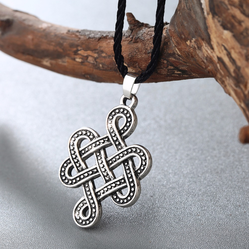 Qiming celtic knot necklace irish antique silver pendant celtic qiming celtic knot necklace irish antique silver pendant celtic eternity knot necklace infinity knot round jewelry in pendant necklaces from jewelry buycottarizona Image collections