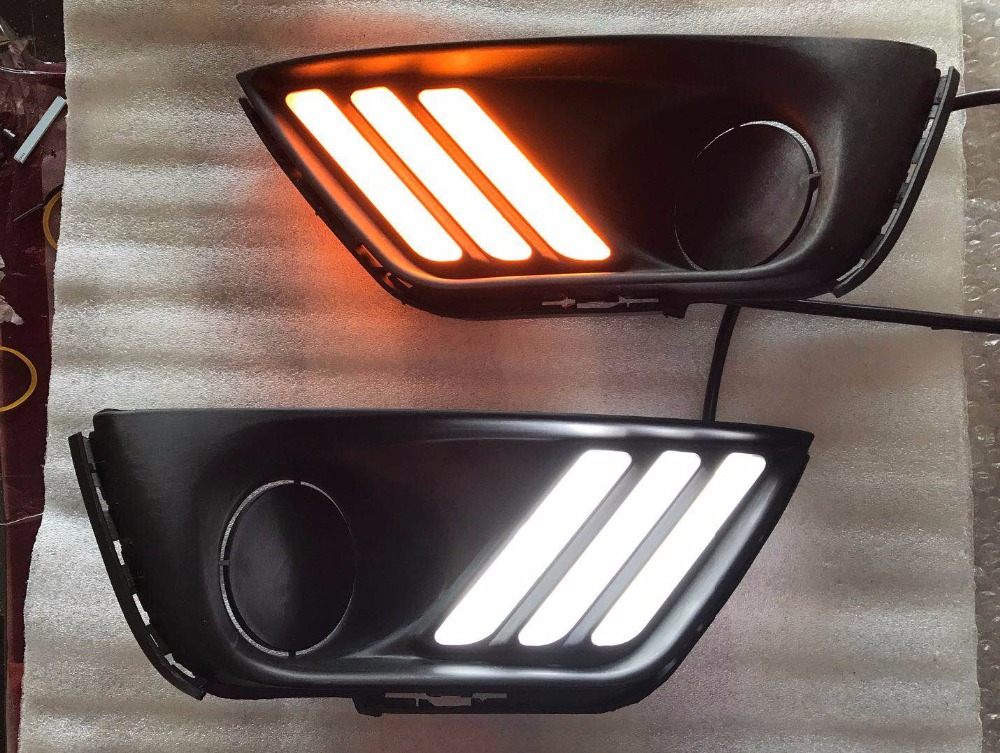 eOsuns led drl daytime running light with yellow turn signal and wireless switch for Jeep compass 2017 eosuns led drl daytime running light for toyota highlander with yellow turn signal wireless control