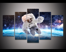 HD print 5pcs astronauts in space canvas wall art print painting modern home decor painting living room decor picture
