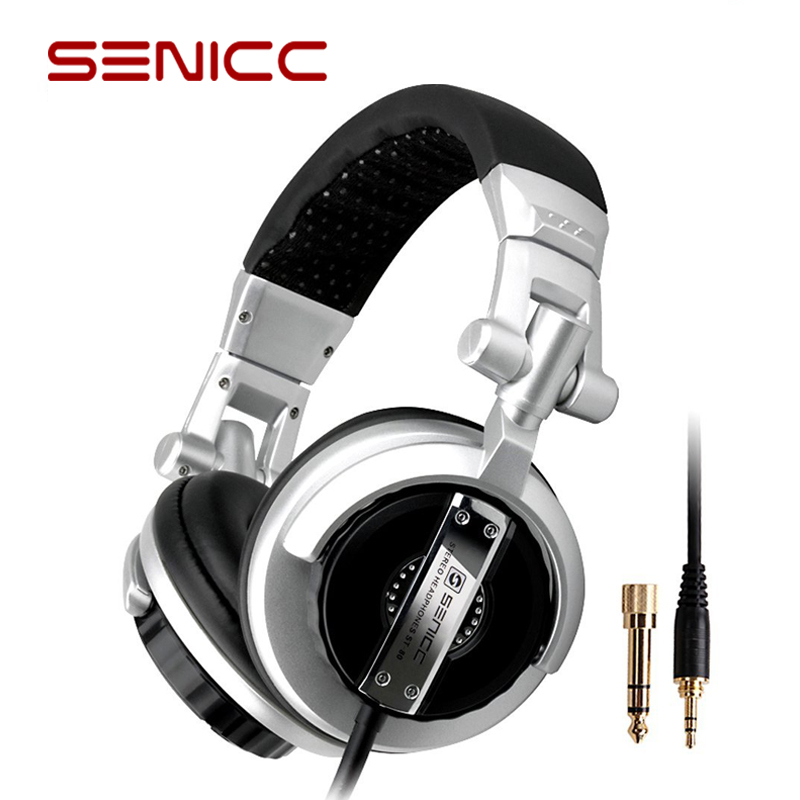 SENICC ST-80 Professional DJ Studio Monitor Headphones Stereo Portable Headset with 3.5mm 6.3mm Jack 50mm Dirver Extended Cord image
