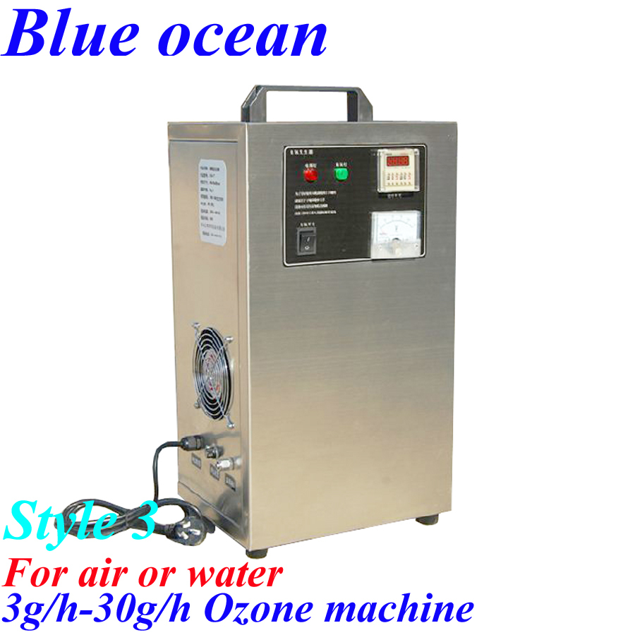 BO-2205AYT, HOT 3g/h-30g/h ozone generator for water treatment AC220V FREE SHIPPING OZONE MACHINE