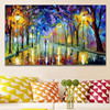 Large Knife Handpainted Landscape Paintings Modern Abstract Home Decor Wall Art Picture 3D Streetscape Oil Painting