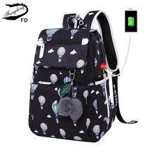 93d0a09004d1 FengDong модный школьный рюкзак для девочек школьные сумки новое  поступление 2018 детей рюкзаки Дети милые USB