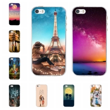 цены For Apple iPhone 5 5S SE Phone Case Soft TPU Silicone For iPhone 5 5s SE Cover Romantic Love Patterned For iPhone 5 5s se Coque