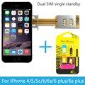 Magic-SIM Dual 2 Adaptador Slot Para Cartão Sim Único Standby Sinal boosters para iphone 5/5s/5c/6/6 s/6 plus/6 s além de