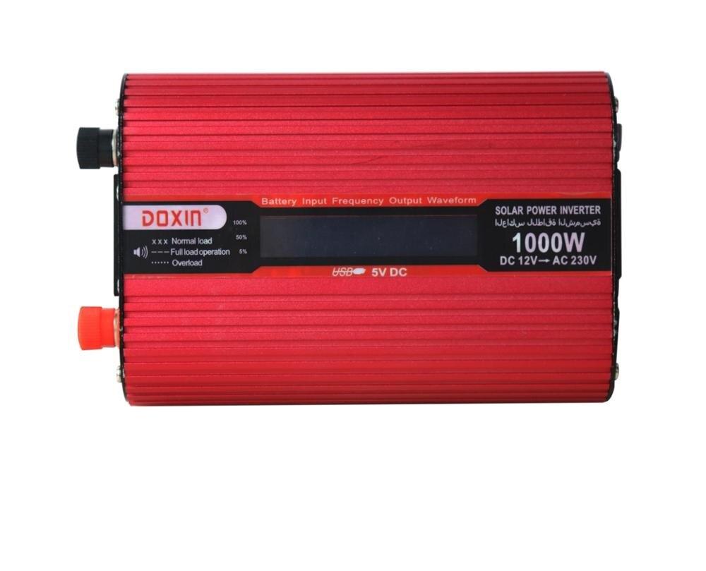 цена Voltage Converter 12V to 220V 24V to 220V 1000W LCD Display Inverter, American Standard European Standard Socket Inverter