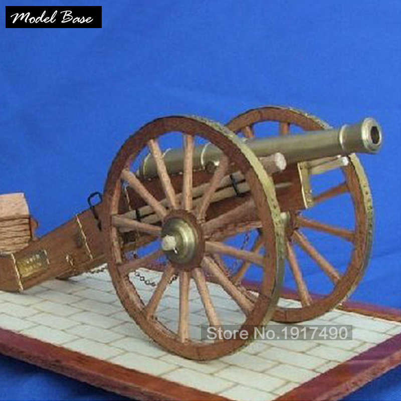 Wooden Ship Models Kits Diy Train Hobby Model Boats Wood 3d Laser Cut Scale 1/20 Napoleonic Era Field Artillery Cannon Model Kit