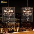 American retro contracted pendent lamp, wrought iron light clothing restaurant the lamps and lanterns E14 LED bulbs