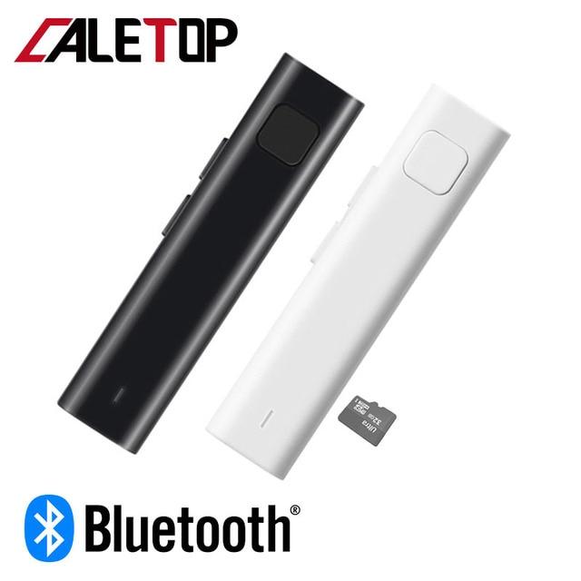 CALETOP receptor de Audio estéreo con Bluetooth y conector de entrada de 3,5mm, adaptador inalámbrico compatible con tarjeta TF, AUX, Kit de coche para Spkeaker, auriculares y teléfono