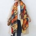 2016 Осень и зима новый стиль Граффити имитация кашемира шарф женская мода мягкая печати все матч шаль