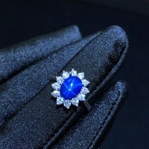 Image 3 - 별빛 사파이어 반지, 고전적인 925 순수한은 별 선 아름다운 우편물 패킹