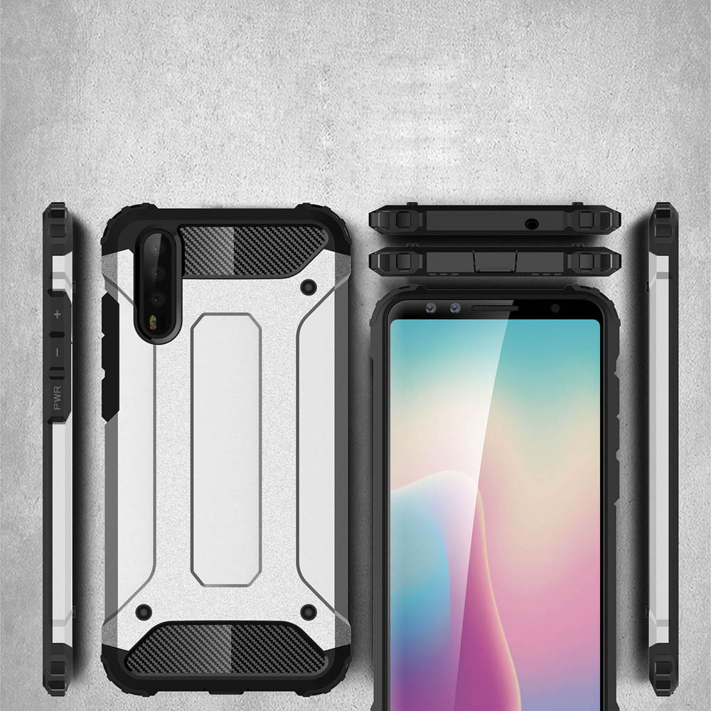 For Huawei P20 Lite P30 Pro Rubber Armor Hard Case For Huawei Mate 20 Pro 10 Lite Honor 10 9 Lite 8 P Smart 8X 8C 8A Nova 4 3I