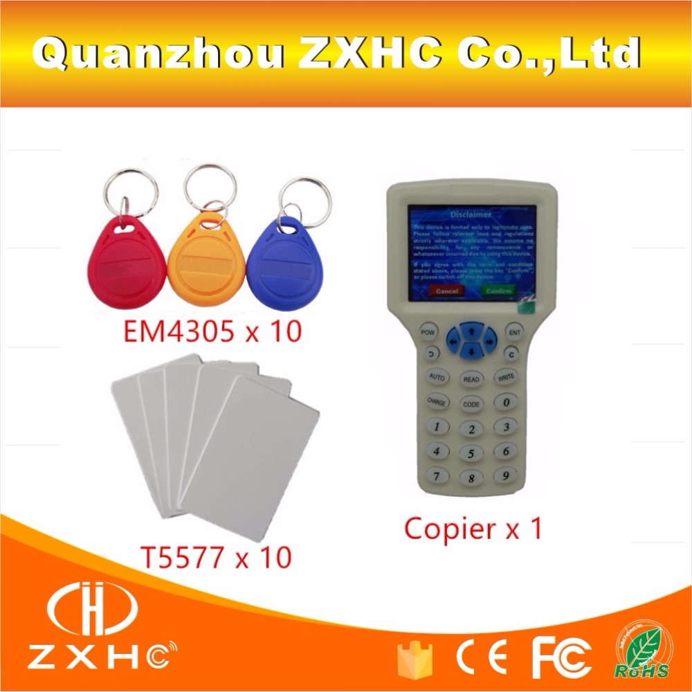 English Language USB RFID Reader Writer Copier Duplicator For H ID IC ID 125Khz 13 56Mhz